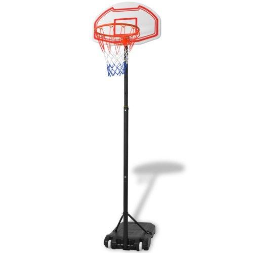 vidaXL Portable Basketball Net Hoop Backboard with Adjustable Stand Set 210 cm