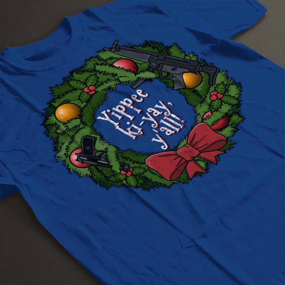 8f49b6bb1 Yippee Ki Yay Christmas Wreath Die Hard Men's T-Shirt on OnBuy