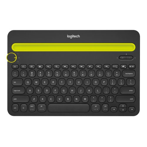 Logitech K480 Bluetooth AZERTY French Black,Green mobile device keyboard