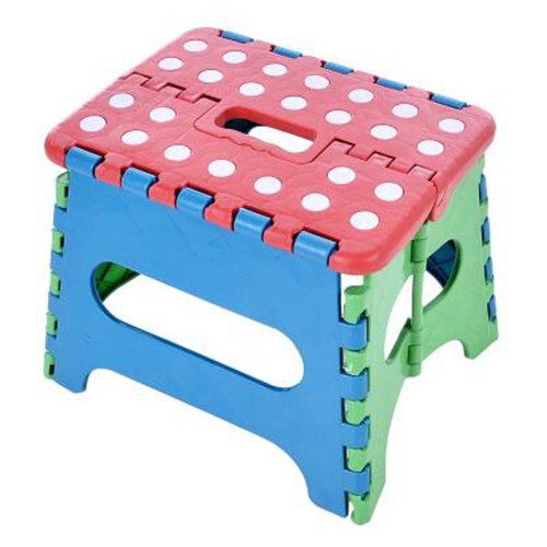 Creative Plastic Foldable Step Stool Portable Folding Stools Stepstool for Kids & Adults, No.11