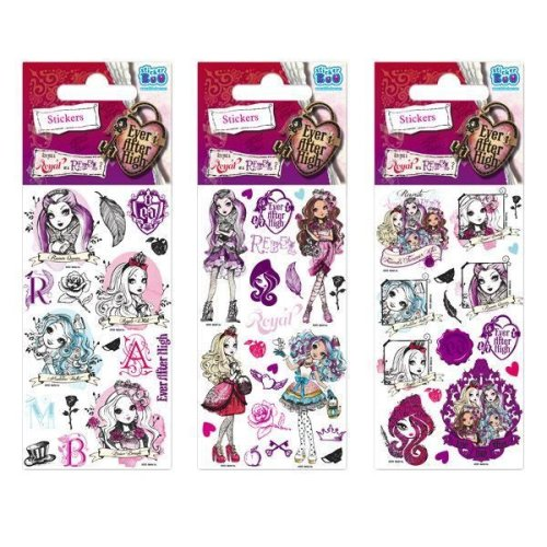 5 x Quality Sticker Sheets | EVER AFTER HIGH FOIL | Party Bags & Decoration