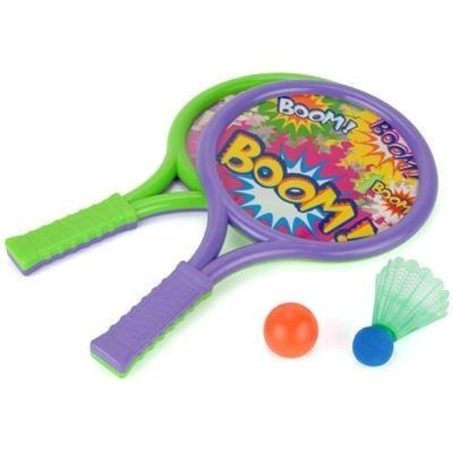 Toyrific Boom Bats Set With Ball & Shuttlecock