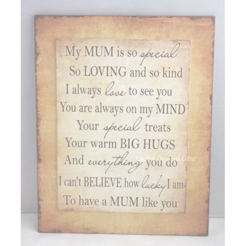 My Mum Wall Plaque Loving & Kind Mother's Day SG1860