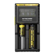 UK Nitecore D2 EU Dual Digital 18650 26650 20700 Vape Battery Charger