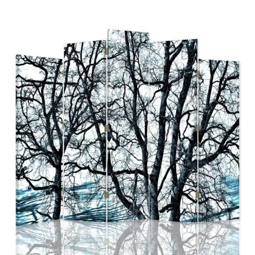 Winter Forest Screen/Room Divider cm. 180x180 (5 panels)