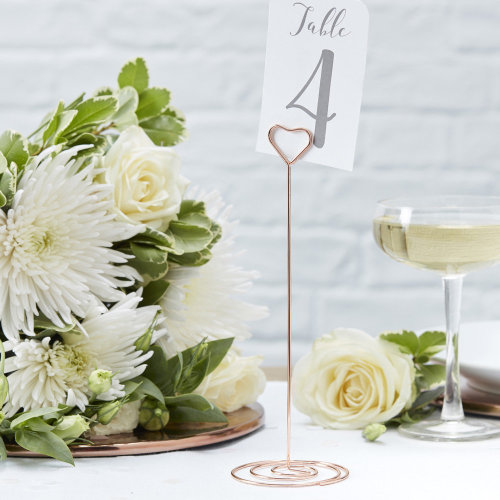 Rose Gold Metal TABLE NUMBER STANDS  Wedding Table Name