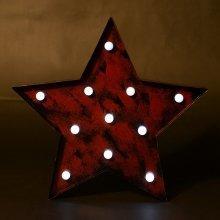 Homcom Light Five-point Star Christmas Decoration Rustic Design