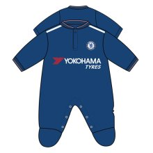 Chelsea Unisex Official Sleepsuit, Multi-colour, 12-18 Months - Sleepsuit 1218 -  chelsea sleepsuit 1218 rw fc official baby football months mths