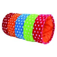 Trixie Playing Tunnel, Fleece, Ø 25 × 50 Cm, Colourful - Fleece Tunnelcm Play -  fleece tunnel trixie 50 cm play playing cat 25 toy cats colourful