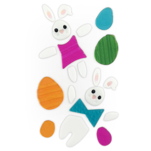 TRIXES Bunny Easter Window Stickers