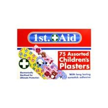 75 Assorted Childrens Plasters -  plasters 75 designs colour padded childrenskids washable allergylatex free smalllarge 225 chidrens sticky bright