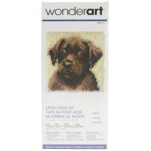 "Caron Wonderart Latch Hook Kit 12""X12""-Chocolate Dog"