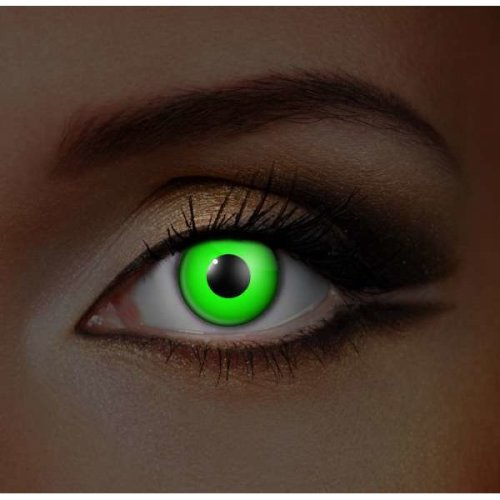 i-Glow Green UV Contact Lenses (Pair) - Halloween Contact Lenses