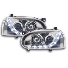 Daylight Headlight VW Golf 3 type 1HXO 1EXO Year 91-97 chrome RHD