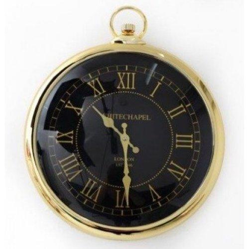 Wall Clock Gold Round Pocket Watch Whitechapel Roman Numerals Large 42cm