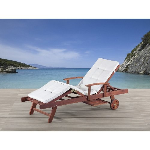 Beige Sun Lounger Outdoor Cushion