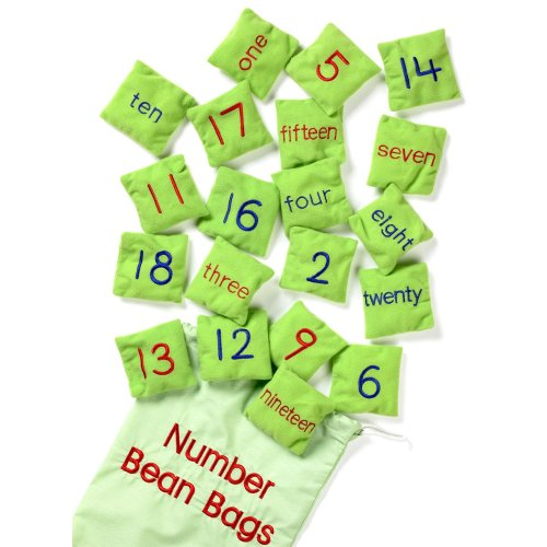 Set of 20 Number Bean Bags - School Learning Educational Toys