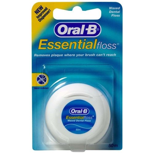 Oral-B Essential Floss Waxed Dental Floss 50m