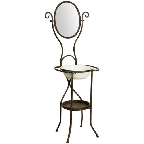 Wrought Iron Made Antiqued White Finish  W54xdp44xh144 Cm Sized Toilette