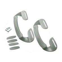 2 X Universal Silver Plastic Fridge Freezer Door Grab Handle