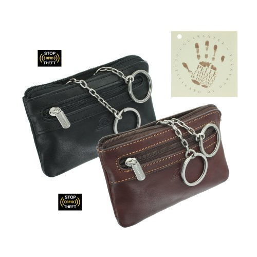 Tony Perotti Full Grain Leather Zip Top Keycase 1013_1