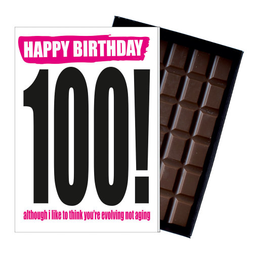 Funny 100th Birthday Gift Rude Naughty Present For Him Or Her 85g Chocolate Card On OnBuy