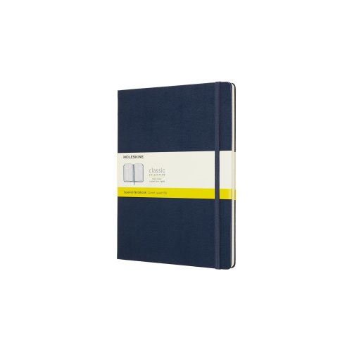 Moleskine Classic Notebook Xl Squared Hard Cover Sapphire Blue