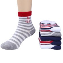 5 Pairs of Cozy kids Cotton Socks Children  Gifts Comfortable Socks,5-6years?stripe
