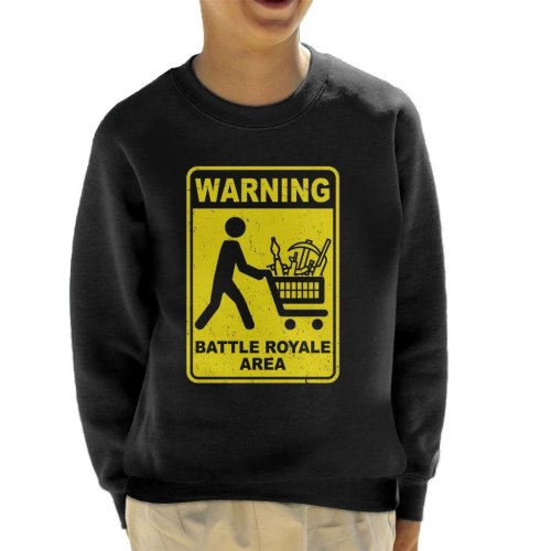 Warning Battle Royale Area Kid's Sweatshirt