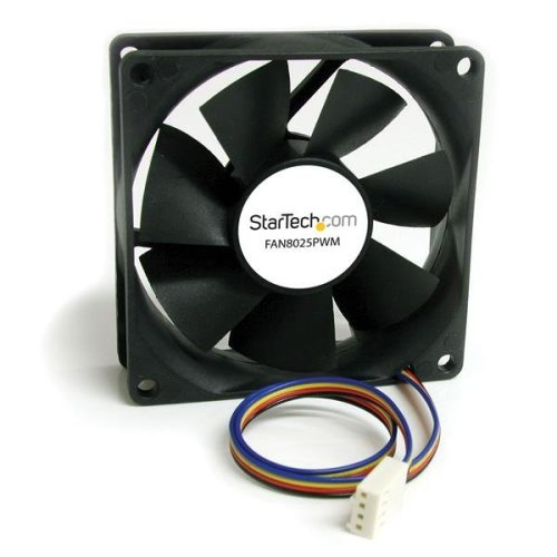 StarTech.com 80x25mm Computer Case Fan with PWM - Pulse Width Modulation Connector