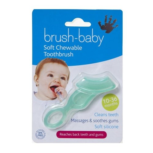 Brush-Baby Chewable Toothbrush 10-36 Months Teal