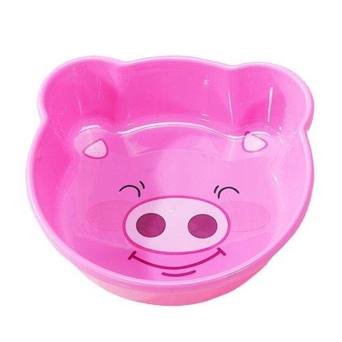 2PCS Children Cartoon Washbasin Thickened Newborn Small Basin[Pink]