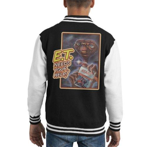ET Needs Your Help Game Cover Kid's Varsity Jacket