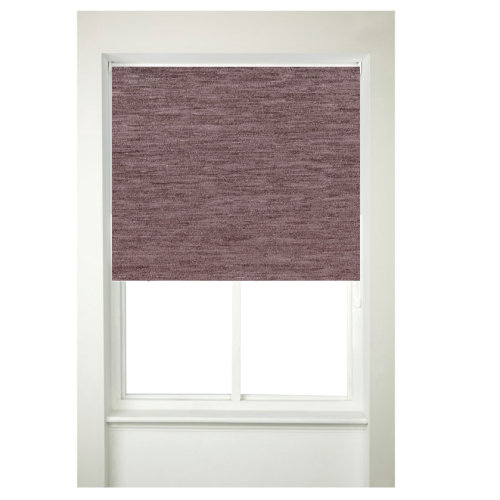Chenille Roller Blind Window Blinds Curtains Mauve Color