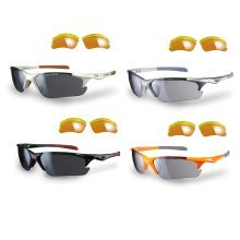 Sunwise Twister sunglasses - with 3 interchangeable lenses and soft case