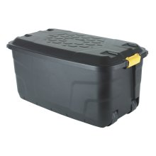 Strata 145 Litre Heavy Duty Plastic Smart Trunk with Lid, Clip Lock