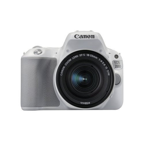 Canon EOS 200D Digital SLR Camera with EF-S 18 - 55 mm f/4-5.6 IS STM Lens - White