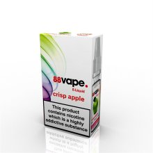 88 Vape E-Liquid Nicotine 11mg Crisp Apple 10ML