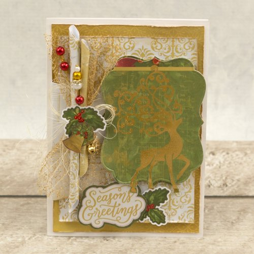 "Couture Creations Naughty Or Nice Hotfoil Stamp-Prancer 3.3""X2.2"""
