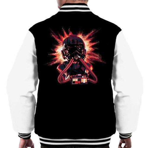 Original Stormtrooper Imperial Pilot TIE Helmet Explosion Men's Varsity Jacket