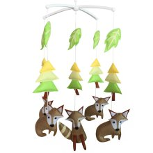 [Fox and Forest] Baby Gift, Cute Room Decoration, Adorable Crib Mobile