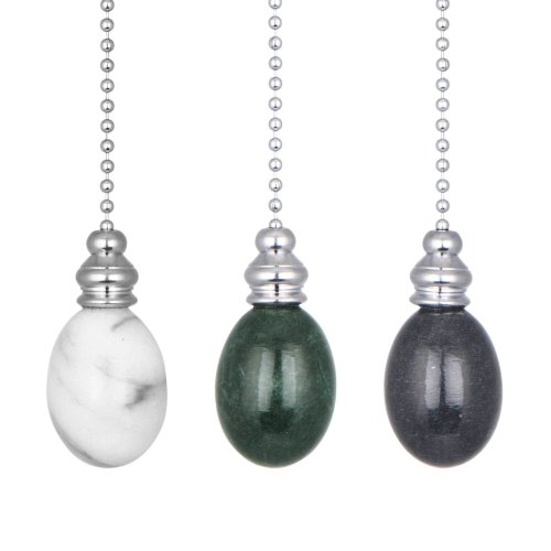 ElekTek Light Pull Chain Marble Egg Drop Chrome With 80cm Matching Chain