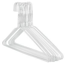 "Hangerworld 50 White 16"" Metal Wire Clothes Coat Hangers Pants Bar"