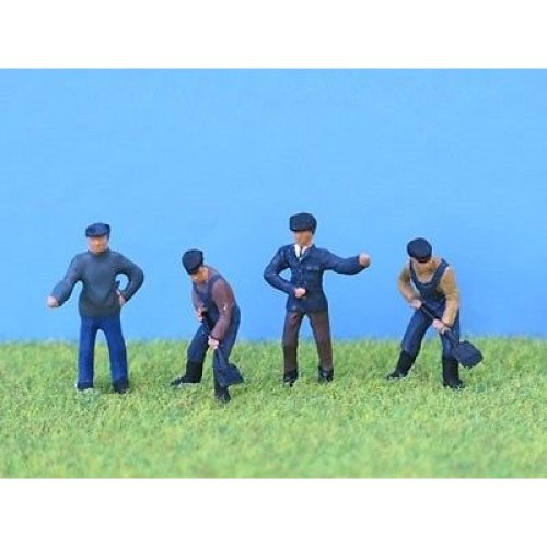 Painted loco crew in OO gauge from P & D Marsh - PDZ19 - free post F1