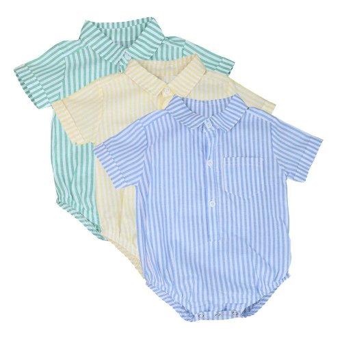 0-24M Newborn baby boy romper summer Toddler Kids Baby Boy Girl Stripe Romper Jumpsuit Kids baby Clothes