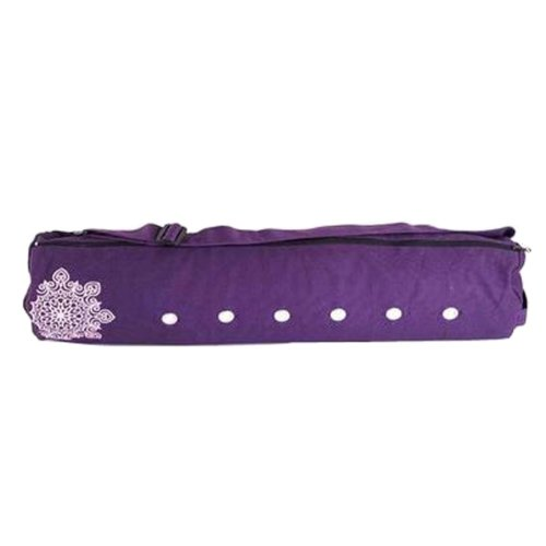 Pouch Yoga Canvas Mat Tote Bag Holder:  Lightweight, Durable, Breathable[Purple]