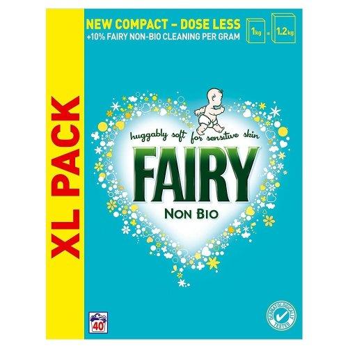 Fairy Non-Bio Laundry Washing Powder Detergent, Sensitive Skin - 2.6KG 40 Washes