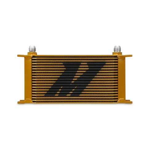 Mishimoto MMOC-19G Universal 19 Row Oil Cooler, Gold