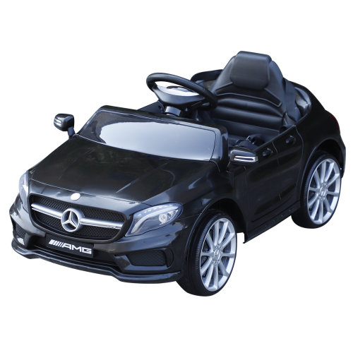 HOMCOM Mercedes Benz Licensed Kids Children Ride On Car 6V Battery Rechargeable Headlight Music Remote Control  High/Low Speed Toy Black