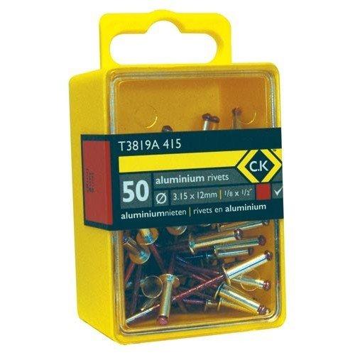 CK T3819A 408 Pop Rivets Aluminium 3.15x6mm Box Of 50